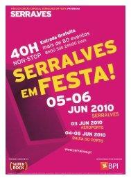 PÚBLICO EDIÇÃO ESPECIAL SERRALVES EM FESTA PROGRAMA