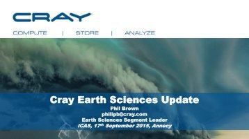 Cray Earth Sciences Update