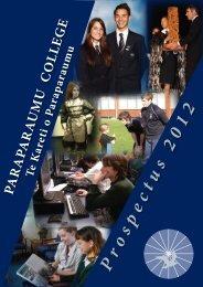 2012 Prospectus - Paraparaumu College