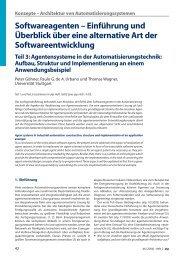 Konzepte – Architektur von Automatisierungssystemen