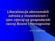 Liberalizacija ekonomskih odnosa s inozemstvom i njen utjecaj na ...