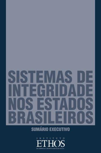 SISTEMAS DE INTEGRIDADE NOS ESTADOS BRASILEIROS