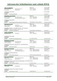 Adressen der Schießmeister und - Diözesanverband Paderborn