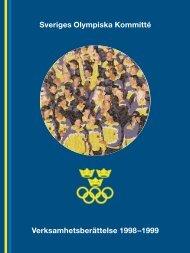 Sveriges Olympiska Kommitté Verksamhetsberättelse 1998–1999