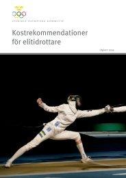 Kostrekommendationer för elitidrottare