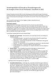 Utredningsdirektiv till förstudie av Stockholm 2022 - Sveriges ...