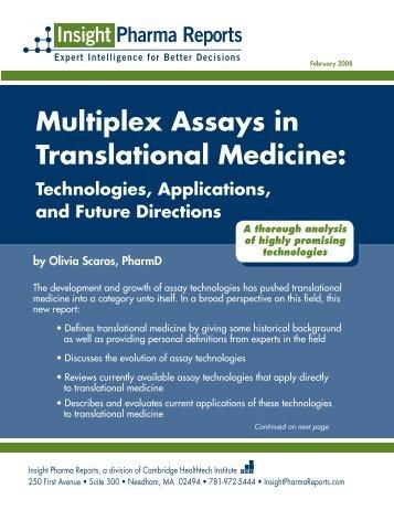 Multiplex Assays in Translational Medicine
