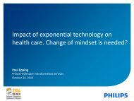 Impact of exponential technology on health care Change of mindset is needed?