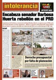 Encabeza senador Barbosa Huerta rebelión en el PRD