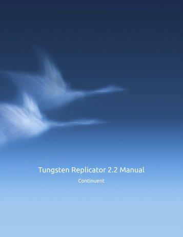 Tungsten Replicator 2.2 Manual