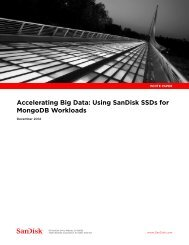 Accelerating Big Data Using SanDisk SSDs for MongoDB Workloads