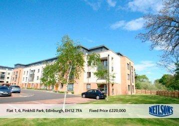 Flat 1 6 Pinkhill Park Edinburgh EH12 7FA Fixed Price £220,000