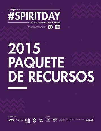 2015 PAQUETE DE RECURSOS