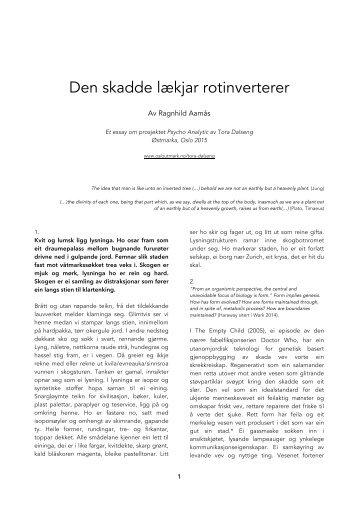 Den skadde lækjar rotinverterer, Ragnhild Aamås