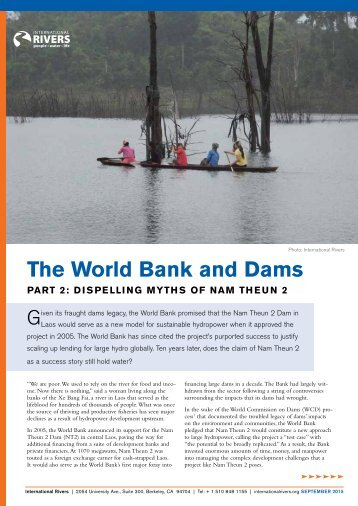 The World Bank and Dams