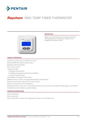 NRG-Temp Timer Thermostat