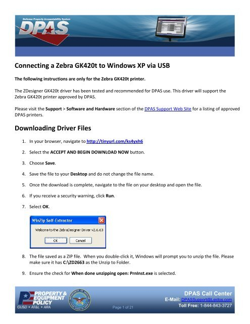 Connecting a Zebra GK420t to Windows XP via USB Downloading Driver Files