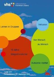 Vormarsch gegenseitigen Veranstaltungen Integrationskurse Sprachzertifikat