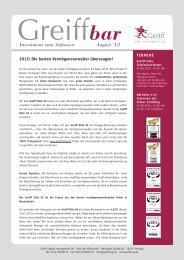 Investment zum Anfassen August '12 -  Greiff Capital Management AG