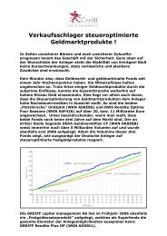 GREIFF Rendite Plus OP - Steuerinformation 28-07-2008