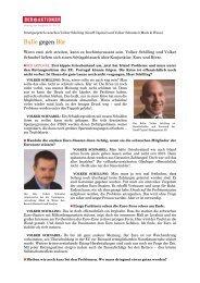 Bulle gegen Bär - Mack & Weise - die Vermögensverwalter