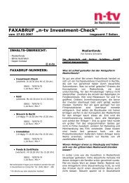 "FAXABRUF ""n-tv Investment-Check"" - Greiff Capital Management AG"