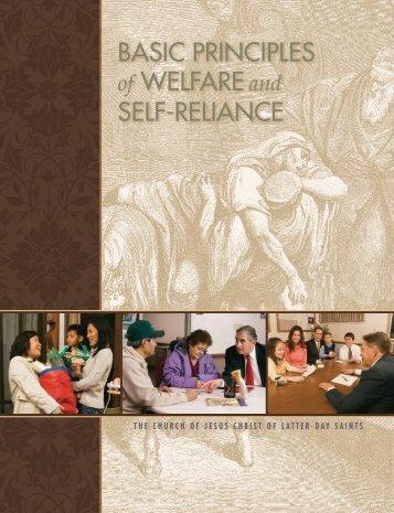 Basic Principles Welfare Self-Reliance