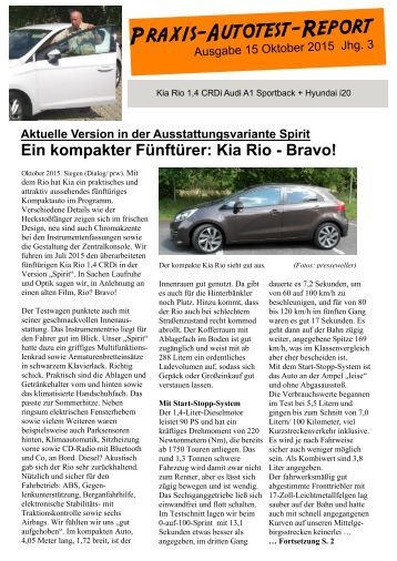 Praxis-Autotest-Report 15 von Presseweller