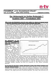 Ausblick 2007 - Greiff Capital Management AG