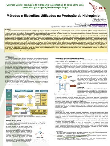 Paper on Hydrogen Production