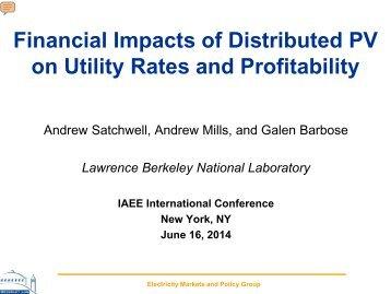 IAEE Presentation_PV_Utility Business Models_vFINAL_20140609