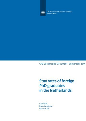 cpb-background-document-stay-rates-foreign-phd-graduates-netherlands