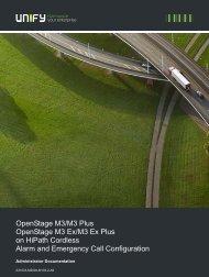 OpenStage M3 Alarm Configuration