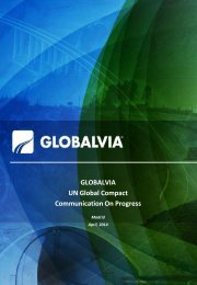 GLOBALVIA UN Global Compact Communication On Progress