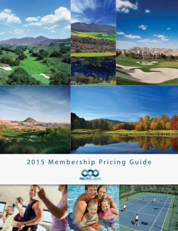 2015 Membership Pricing Guide