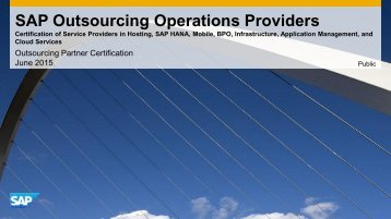 SAP Outsourcing Operations Providers