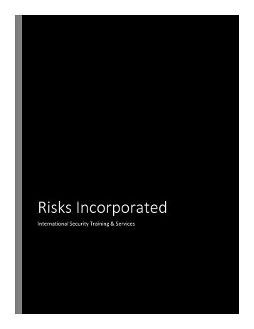 Risks Incorporated