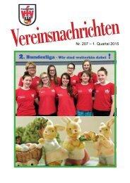 VfV Hildesheim - Vereinszeitung 1/2015