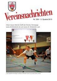 VfV Hildesheim - Vereinszeitung 3/2015