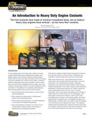 An Introduction to Heavy Duty Engine Coolants
