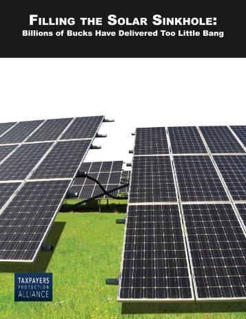 Filling Solar Sinkhole