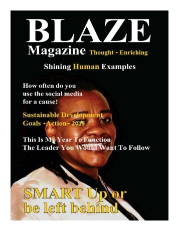 BLAZE Magazine Issue 1 Teaser