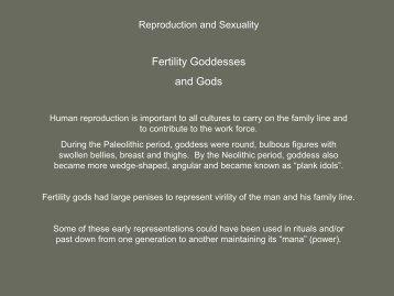 Fertility Goddesses and Gods