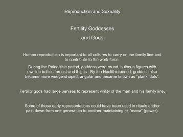 Fertility Goddesses and Gods