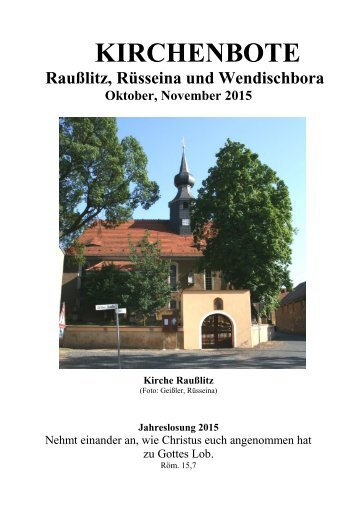 Kirchenbote 2015 Okt-Nov