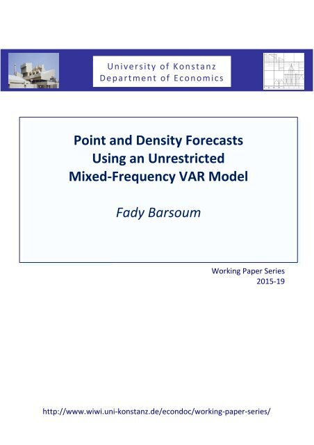 Using an Unrestricted Mixed-Frequency VAR Model Fady Barsoum