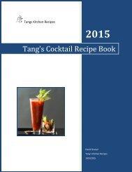 Tang's Cocktail Recipe Book
