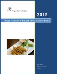 Tang's Canape & Finger food recipe book
