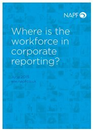 Where is the workforce in corporate reporting?