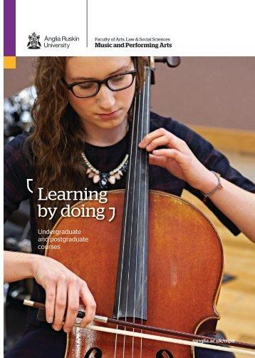 Music and Performing Arts at Anglia Ruskin, 2016-17